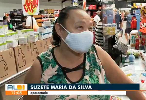 Desesperada com alta dos preços, idosa chora em supermercado