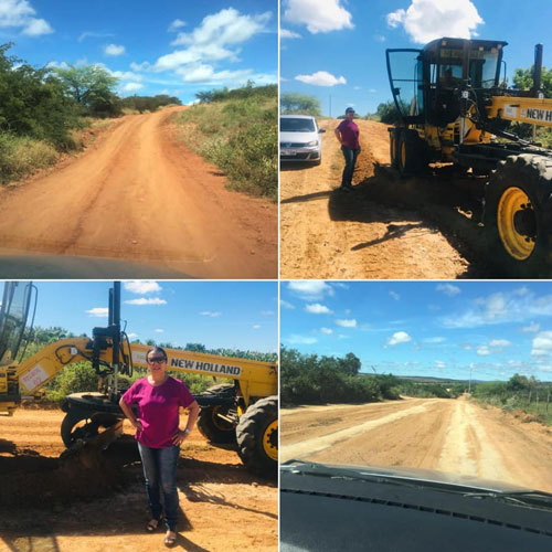 Vereadora Ilka Abreu acompanha obras de infraestrutura na zona rural