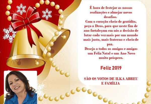 Brumado: Vereadora Ilka Abreu deseja um Feliz Natal aos brumadenses