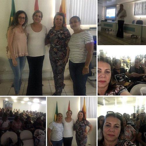 Brumado: vereadora Ilka Abreu participou de palestra sobre câncer de mama no auditória da prefeitura