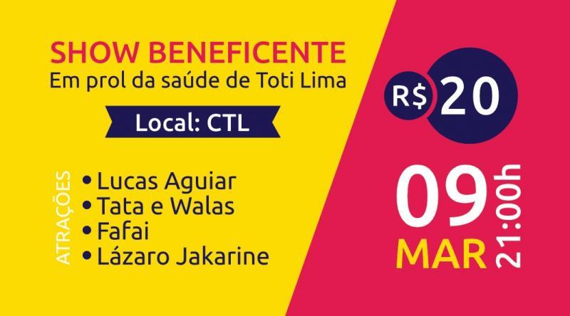 Cantores brumadenses realizarão show beneficente em prol de Toti Lima