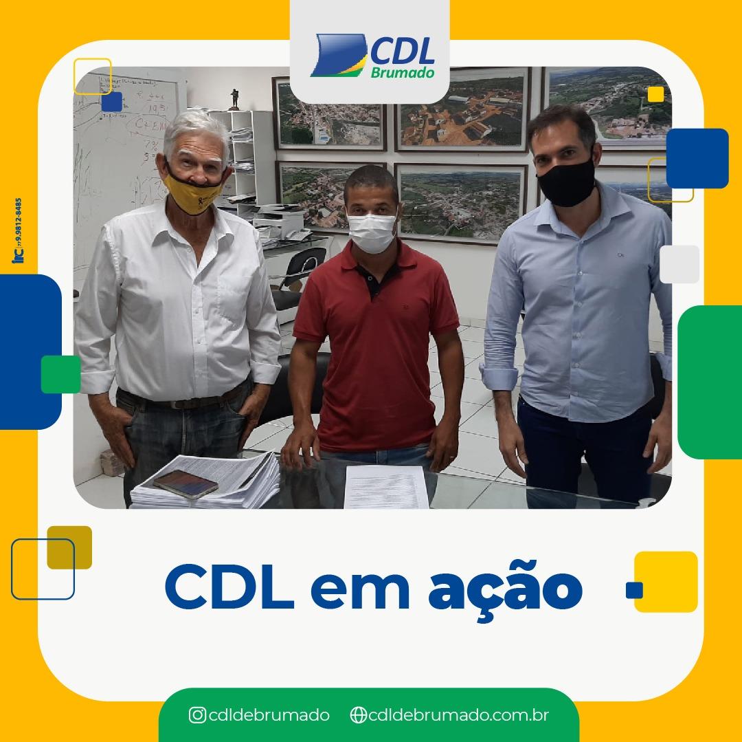 Brumado: Diretoria da CDL  se reúne com prefeito Eduardo Vasconcelos para tratar melhoria do setor varejista do município
