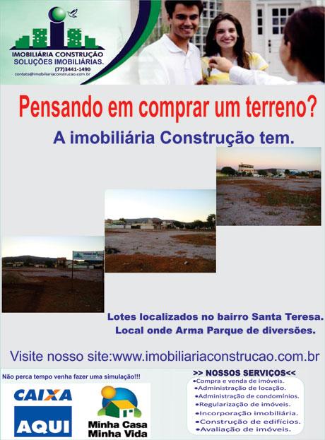 NOVIDADE DA IMOBILIÁRIA CONSTRUÇÃO PARA VOCÊ