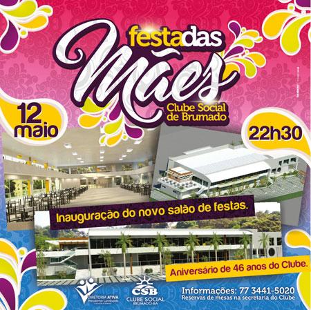 Dia 12 de maio tem a inauguração do novo salão de festas do Clube Social de Brumado