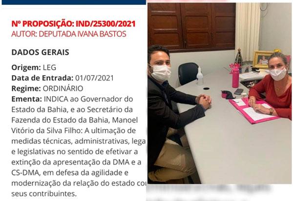Ivana indica ao governador extinção das obrigações estaduais DMA e a CS -DMA