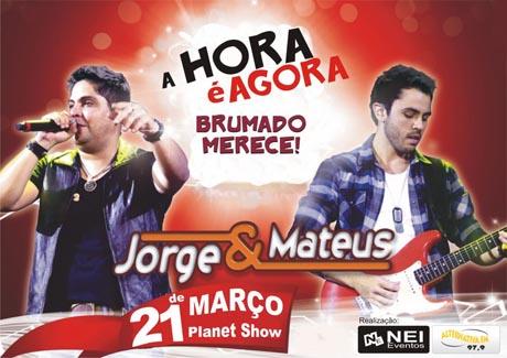 SHOW DE JORGE & MATEUS EM BRUMADO INGRESSOS À VENDA