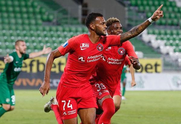 Júnior Brumado marca e Midtjylland vence pela segunda pré-eliminatória da Liga dos Campeões da EUFA