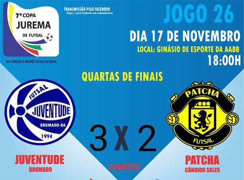 Copa Jurema de Futsal: Juventude Futsal de Brumado vence segue para a semifinal
