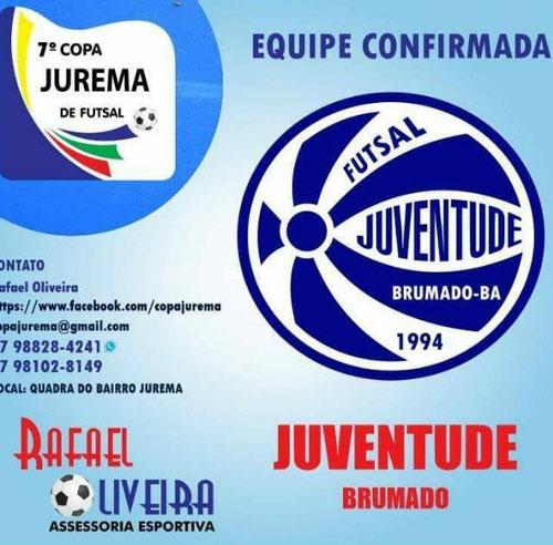 Com apoio da Prefeitura de Brumado Juventude Futsal irá disputar a 7ª Copa Jurema de Futsal em Conquista