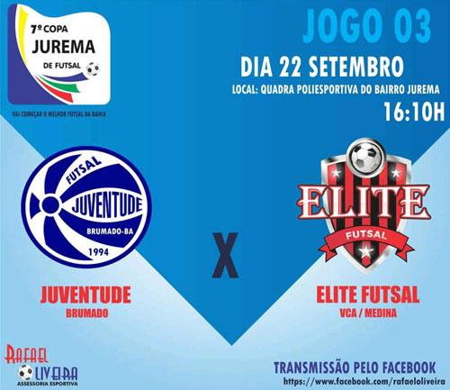 Conquista: Juventude Brumado estreia na 7ª Copa Jurema de Futsal no próximo sábado (22)