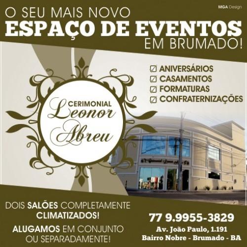Cerimonial Leonor Abreu, novo espaço de eventos em Brumado