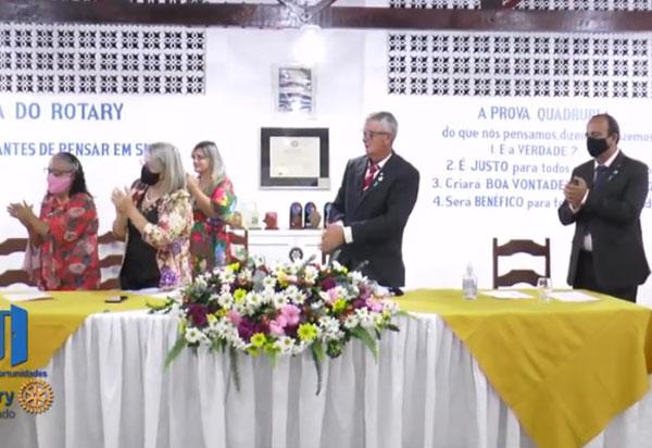 Rotary Club de Brumado realizou transmissão do Conselho Diretor da entidade e da Casa da Amizade