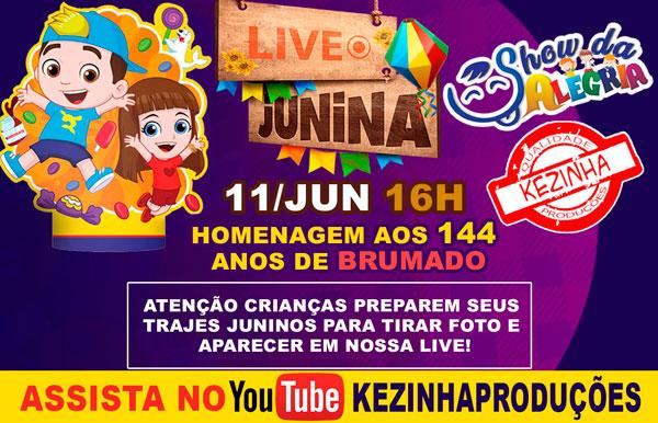 Brumado: Nesta sexta (11) tem transmissão de live junina 'Show de Alegria'