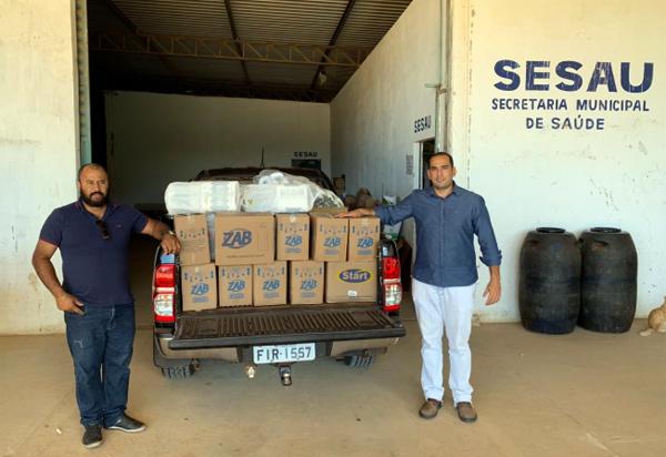 Loja Maçônica Aliança Sertaneja de Brumado faz doação de materiais de limpeza para a SESAU