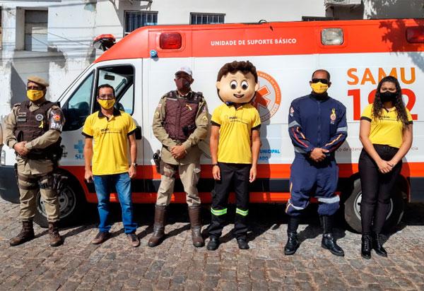 Carreata marca início na Campanha 'Maio Amarelo' em Brumado