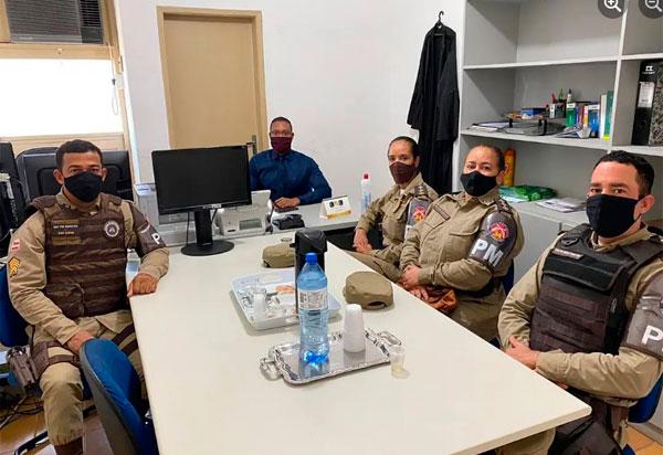 Comando 34ª CIPM faz visita institucional ao juiz da comarca de Barra da Estiva