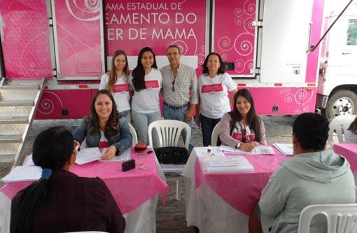 Aracatu: Município recebeu Unidade Móvel de Mamografia do Programa Estadual de Controle do Câncer de Mama