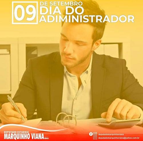 Deputado Marquinho Viana parabeniza Administradores