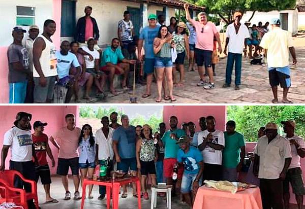 Deputado Marquinho Viana visita a comunidade quilombola do Camulengo, em Barra da Estiva