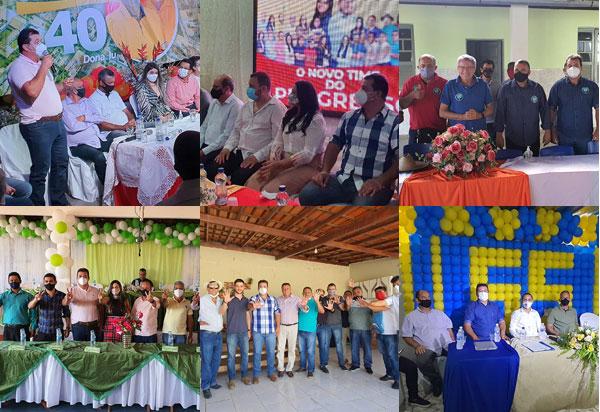 Deputado Marquinho Viana participou de diversas convenções municipais na região