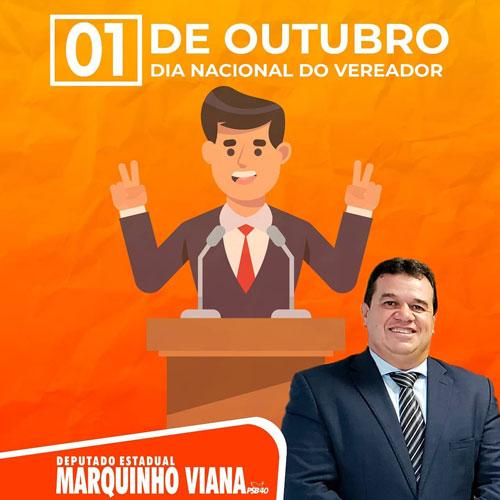 Deputado Marquinho Viana parabeniza vereadores