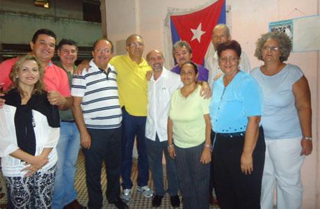 Marquinho visita o Comitê de Defesa da Revolução, em Havana