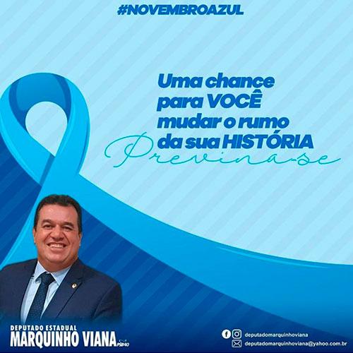 Deputado Marquinho Viana alerta sobre o Novembro Azul