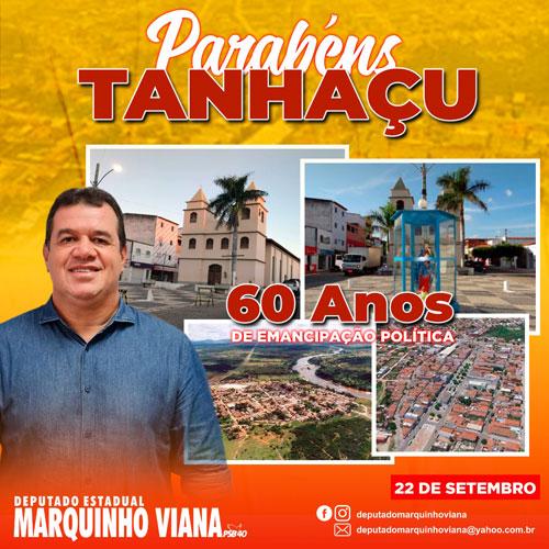 Deputado Marquinho Viana parabeniza Tanhaçu