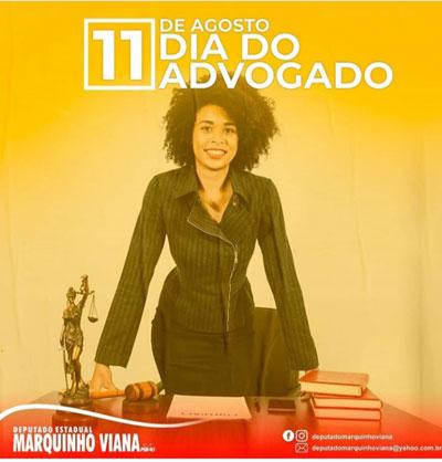 Deputado Marquinho Viana homenageia Advogados