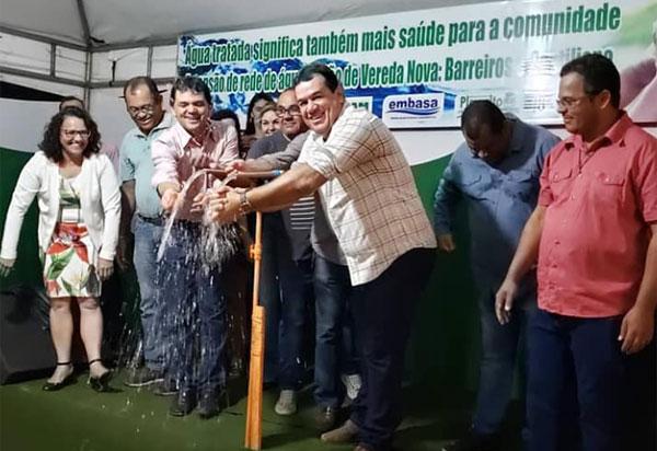 Deputado Marquinho Viana inaugura sistema de abastecimento de água em Planalto