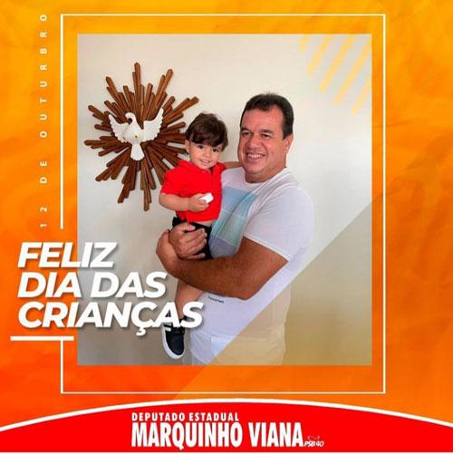 Deputado Marquinho Viana deseja um Feliz Dia para todas as Crianças