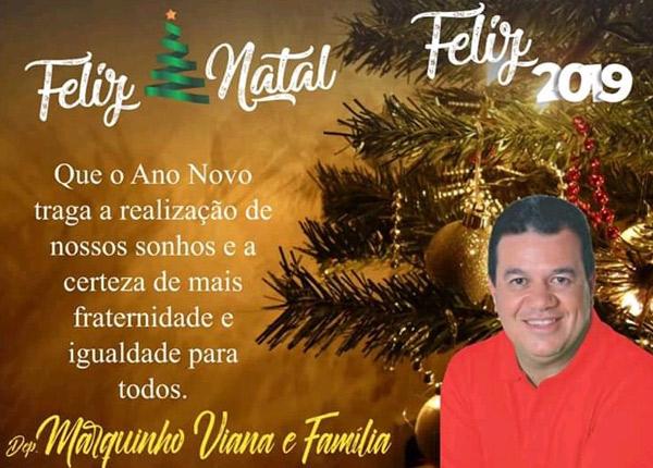 Deputado estadual Marquinho Viana deseja à todos um feliz Natal e Ano Novo