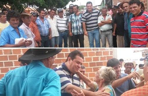 Marquinho Viana visita comunidades rurais em Aracatu