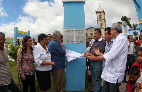 Barra da Estiva: Wagner, José Rocha e Marquinho inauguram obras