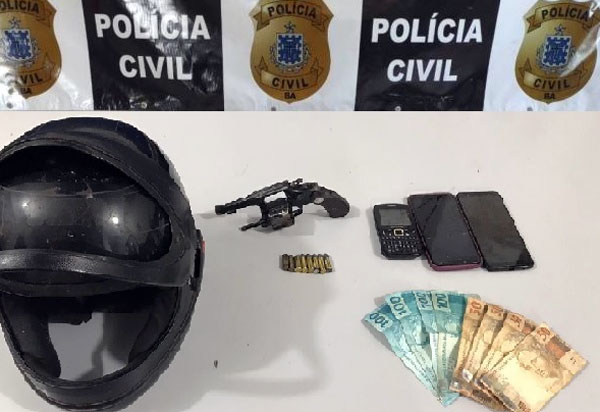 Livramento: Polícia Civil apreende arma de fogo e objetos roubados na zona rural