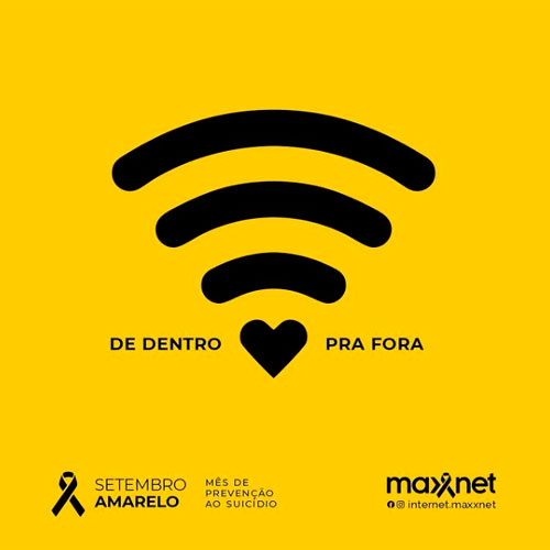 Maxxnet na Campanha 'Setembro Amarelo': Mês dedicado à prevenção do suicídio