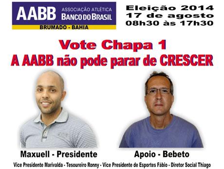 Neste domingo (17) tem eleição para presidente da AABB