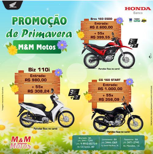 Promoção de Primavera M & M Motos