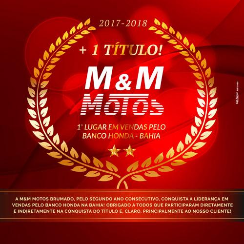 Brumado: M & M Motos conquista 1º Lugar em vendas pelo Banco Honda