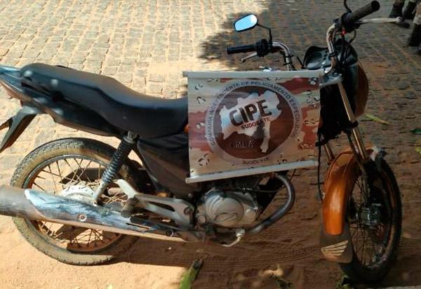 Caesg apreende em Caculé moto com chassi suprimido