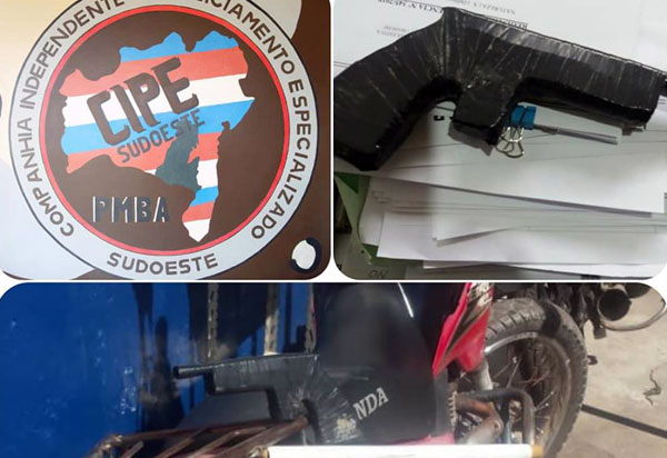 Cipe Sudoeste e 34ª CIPM recuperam moto roubada e apreendem simulacro de arma de fogo em Barra da Estiva