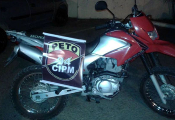 Roubada em Brumado, moto é localizada pela Polícia Militar em Caetité