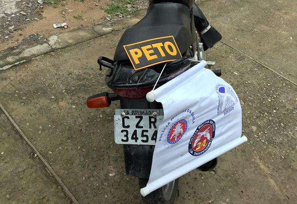 Polícia militar apreende em Brumado moto com identificadores suprimidos