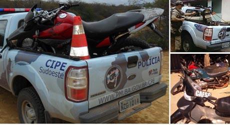 SUDOESTE: CIPE RECUPERA 12 MOTOS E PRENDE 7 PESSOAS