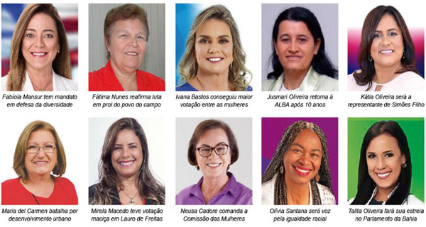 Bahia: Representação feminina cresce e Assembleia contará com 10 deputadas