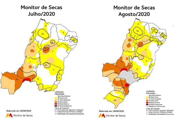 Monitor de Secas registra menor área com seca na Bahia desde agosto de 2015