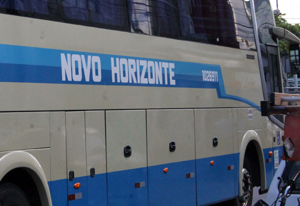 Passageiro relata viagem com goteiras dentro de ônibus da Viação Novo Horizonte