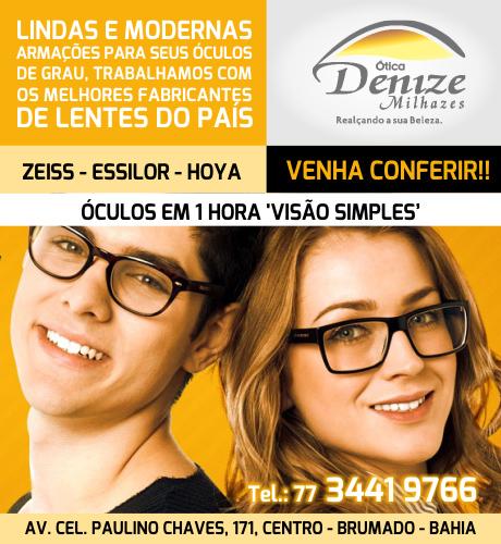 Brumado  A Ótica Denize Milhazes esntrega seus óculos em até 1 hora ... 2444d808ef