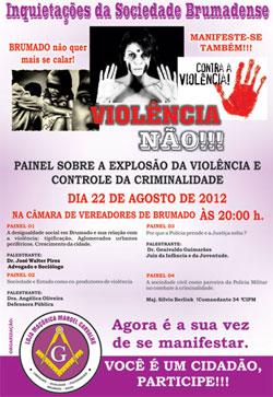 BRUMADO: PAINEL SOBRE VIOLÊNCIA ACONTECE HOJE