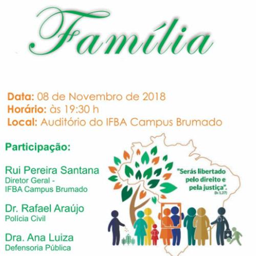 Brumado: palestra do projeto 'Mundo Melhor' será ministrada no auditório doIFBAnesta quinta (08)